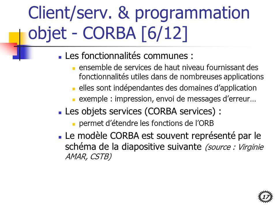 Client/serv. & programmation objet - CORBA [6/12]